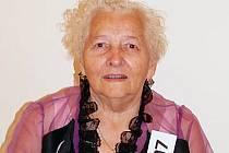 Sedmaosmdesátiletá Anna Černohlávková z Mladé Boleslavi.