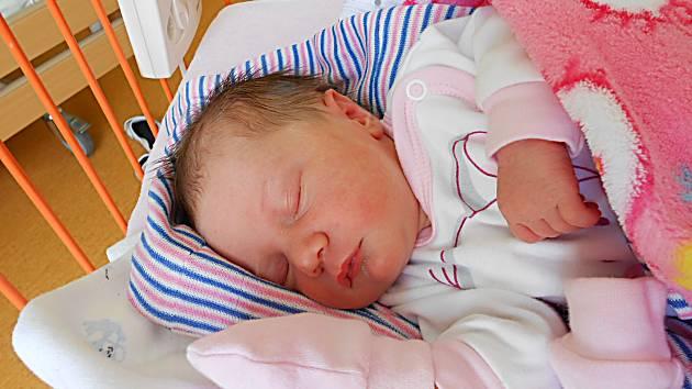 Jindřiška Radková se narodila 15. dubna, vážila 2,77 kg a měřila 49 cm. S maminkou Alenou a tatínkem Štěpánem bude bydlet v Mladé Boleslavi.