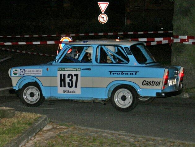 Historické závodní vozy v Mladé Boleslavi (4.RZ - Staroměstská)