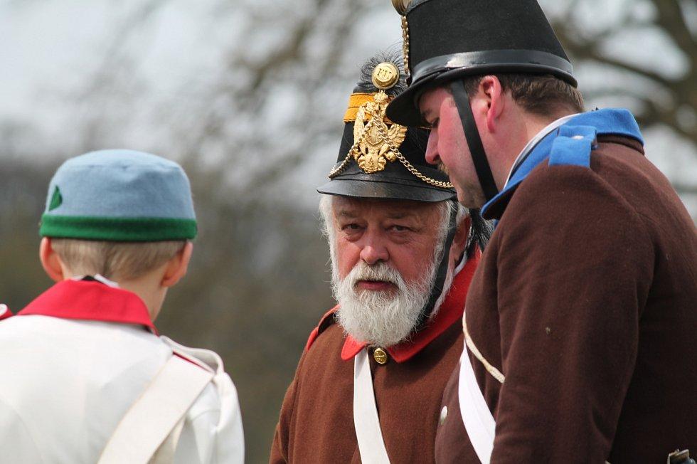 Připomínka 150. výročí bitvy u Mnichova Hradiště.