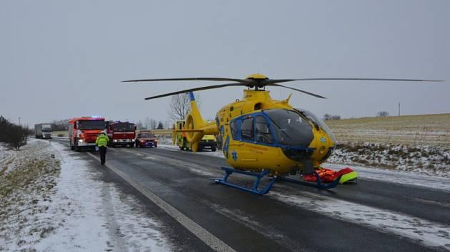 Nehoda u Horního Bousova