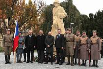 U legionáře připomněli 97. výročí vzniku samostatného Československa