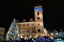 Mladá  Boleslav rozsvítila vánoční strom.