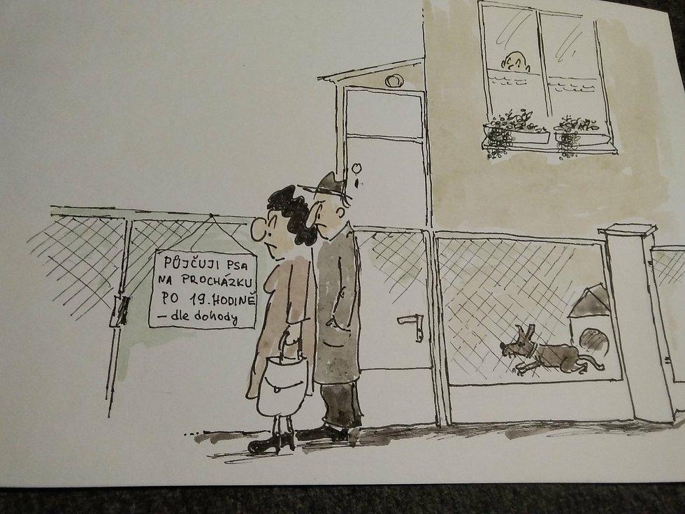 Kreslené vtipy Rudolfa Pejrila