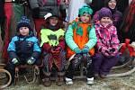Tradiční silvestrovské sáňkování v Malé Bělé