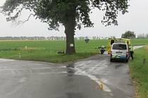 Vážná nehoda motorkáře se stala ve středu u Katusic