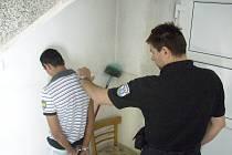 Zloděj byl nachytán přímo na místě činu.