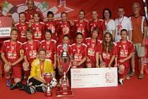 Vítězný tým coca cola školského poháru 2013 - Dolní Bousov