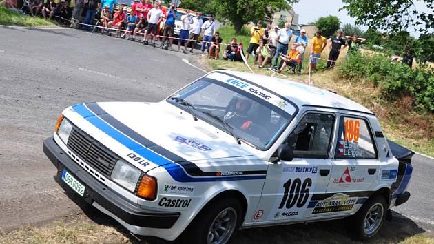 Břetislav Enge na trati letošní Rally Bohemia