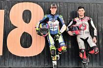 Mladoboleslavský motocyklový talent Filip Salač (vlevo)