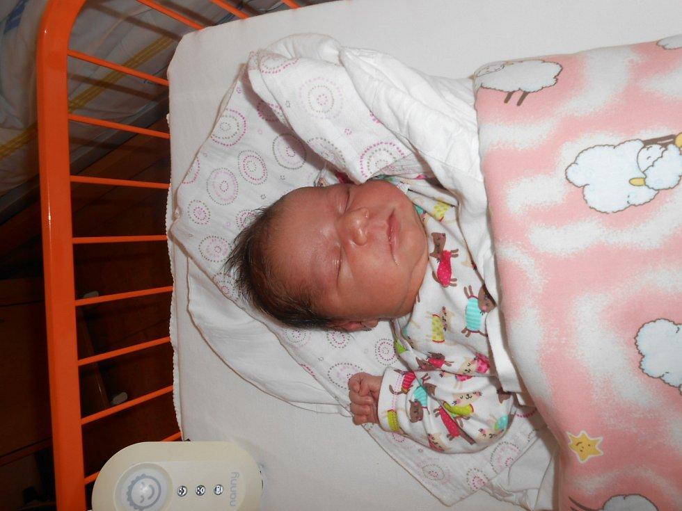 NIKOLKA Ďuďová se narodila 6. září mamince Anitě a tatínkovi Ivanovi. Vážila 3,66 kilogramů a měřila 50 centimetrů. Doma v Mladé Boleslavi se na ni těší sestřička Anetka.
