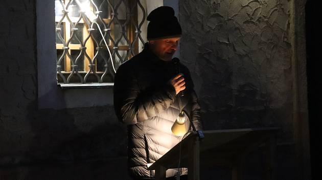 Z uctění památky holocaustu na mladoboleslavském hradě.