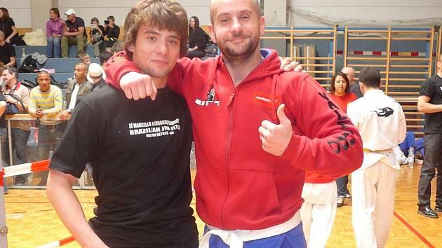 Filip Macek (vlevo) a Jiří Dimitrov na závodech ve Vídni