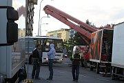 Natáčení scén filmu Mission Impossible IV v Mladé Boleslavi.
