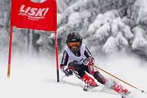 Závodník Auto Škody Martin Muller na slalomové trati