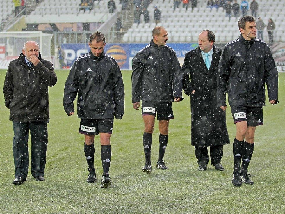 Zápas Jihlavy s Boleslaví byl kvůli sněhu odložen