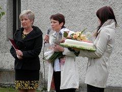 Oslavy výročí otevření bakovské školky, starostka Jana Štěpánová a ředitelka školky Dagmar Vlastová