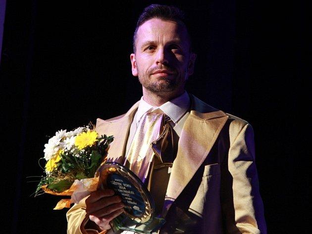 Slavnostní galavečer Zážitek roku 2014 v Městském divadle Mladá Boleslav - herec Petr Mikeska.