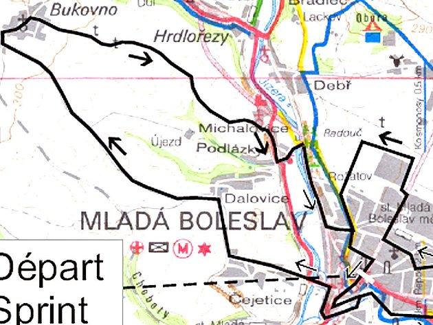 KUDY POJEDOU? Na mapce vidíte, kudy vedou oba okruhy první etapy Závodu míru juniorů v Mladé Boleslavi.
