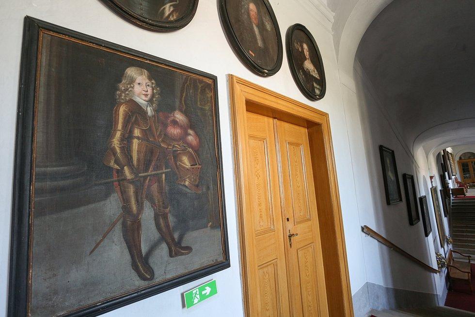 Z prohlídky zámku v Mnichově Hradišti.