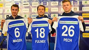 Dominik Mašek, Jakub Fulnek, David Pech.