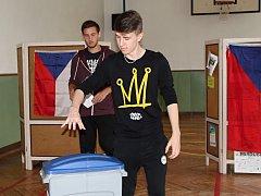 Studentské volby na Gymnáziu Mladá Boleslav.