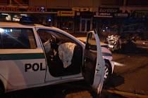 Vážná havárie na třídě T.G.M. zdemolovala dvě auta.