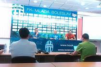 Tisková konference před zápasem Evropské ligy
