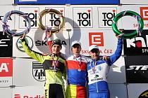 Stupně vítězů - Boroš, Bína a Kyzivát