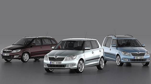 Škoda Fabia Combi, Škoda Fabia a Škoda Roomster po faceliftu 2010.