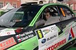 Start Cetelem Valašské rally, st. číslo 6 posádka Valoušek – Hrůza Mitsubishi Lancer EVO IX