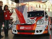 Start Cetelem Valašské rally, st. číslo 20 Tlusťák – Škaloud Citroen C2 S2000