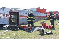 Srážka dvou letadel - cvičení složek IZS na boleslavském letišti