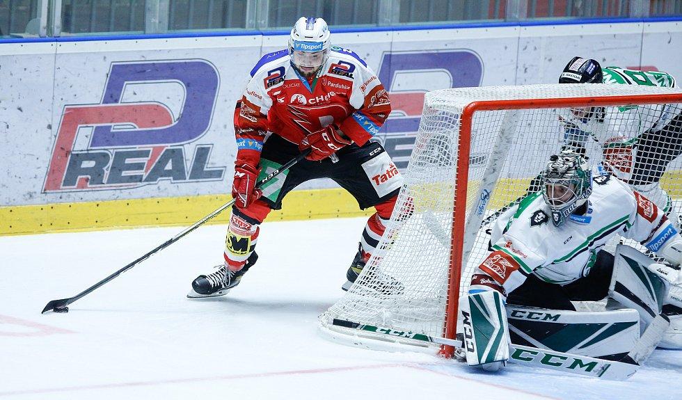 Mladá Boleslav prohrála na ledě Pardubic 1:2 po prodloužení.