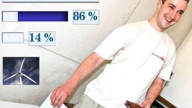 HLASOVÁNÍ. Obyvatelé Sušna na Mladoboleslavsku o víkendu rozhodli, že nechtějí, aby poblíž obce vyrostly větrné elektrárny. Proti projektu hlasovalo 86 procent lidí, kteří se zúčastnili referenda.