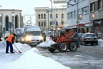 Úklid sněhu v Mladé Boleslavi