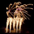 Novoroční ohňostroj v Benátkách nad Jizerou.
