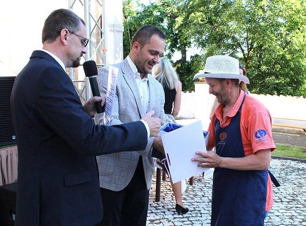 David Chocholatý a starosta Benátek nad Jizerou Karel Bendl