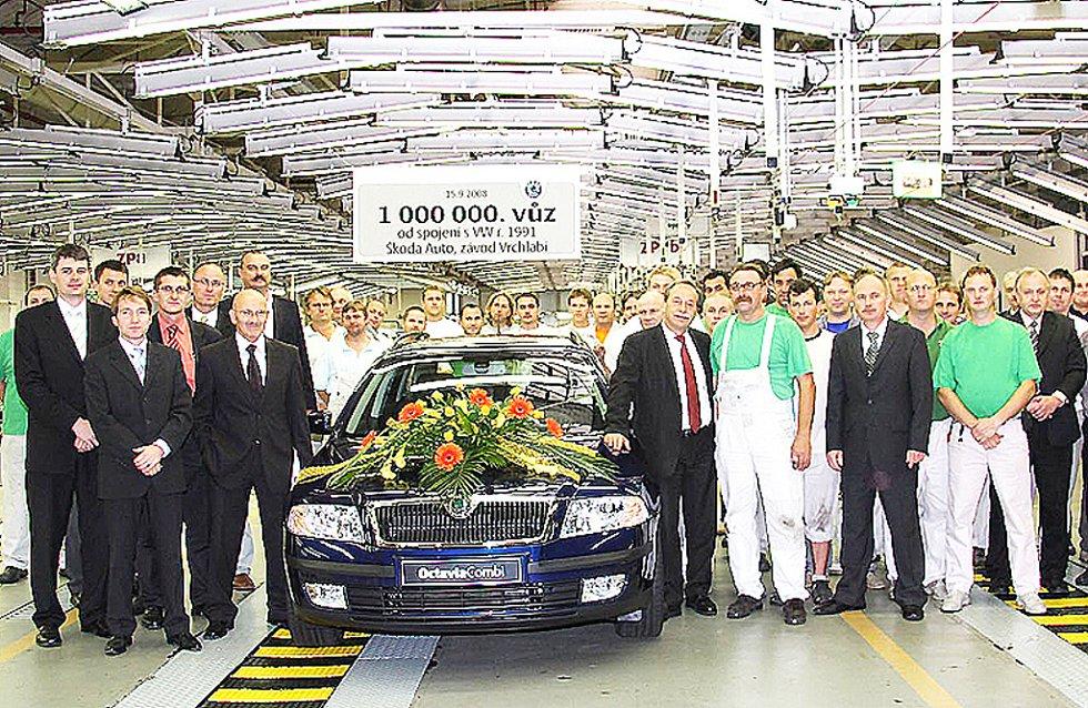 Zaměstnanci Škody Auto. Ilustrační foto.