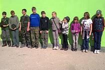 Děti, které soutěžily o Srnčí trofej