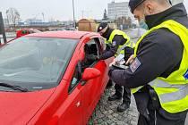 Z preventivní, dopravně bezpečnostní akce na Mladoboleslavsku 6. února 2021.