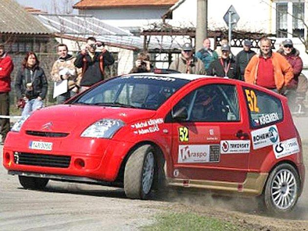 Michal Křemen na trati Horácké rally