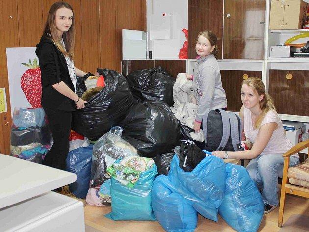 Sbírka v domově dětí a mládeže pro středisko Naděje
