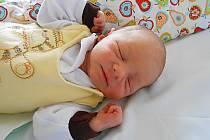 Tobiáš Rada se narodil 23. října, vážil 2,8 kg a měřil 50 cm.