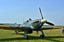 Letiště v Mladé Boleslavi navštívil Hawker Hurricane