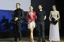 Ze čtvrtého ročníku taneční soutěže 'Roztančené divadlo aneb Když herci tančí' v sále Škoda Muzeum v Mladé Boleslavi.