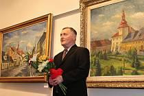 Výstavu uvedl Tomáš Hrabě, syn autora obrazů. Přítomen byl i jeho bratr Miloš.