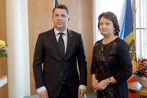 Moldavský velvyslanec Alexandru Codreanu se svými spolupracovníky navštívil Mladou Boleslav.