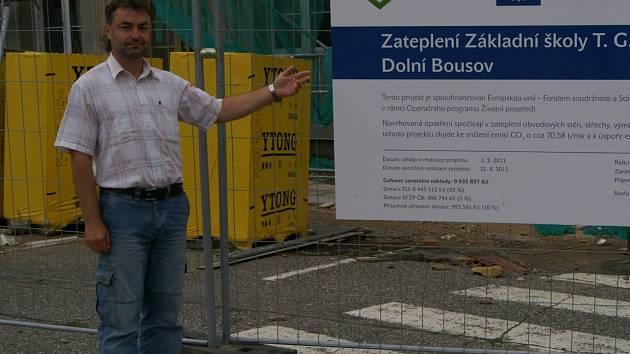 Starosta Dolního  Bousova Miroslav Boček