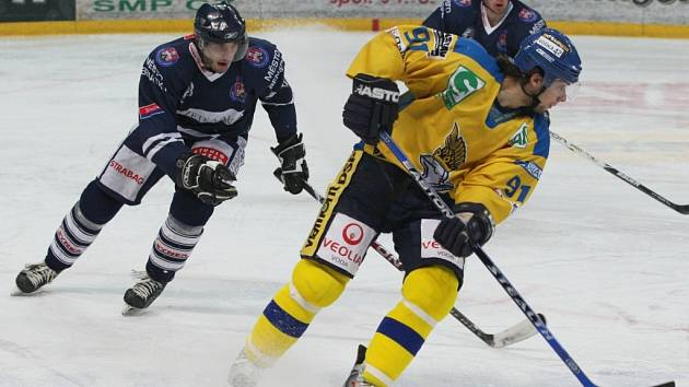 I. hokejová liga - 1. zápas čtvrtfinále play-off: HC Slovan Ústečtí Lvi - HC Benátky nad Jizerou